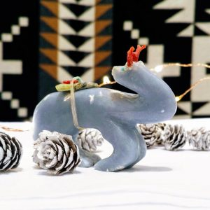 zuni fetish deer blue