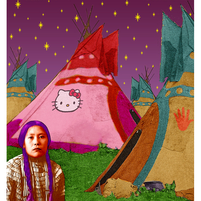 Hello Kitty Tipi by Debra Yepa-Pappan