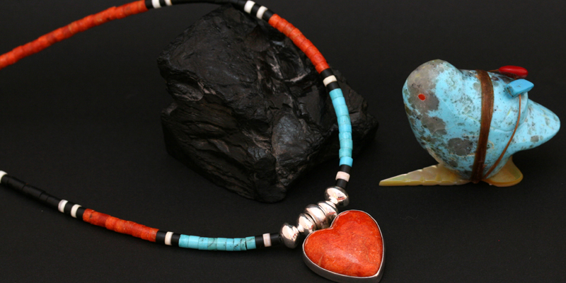 heart necklace native american indian artist