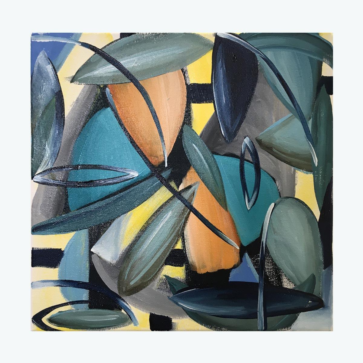 'Tent Metaphor' oil on canvas by Yatika Starr Fields