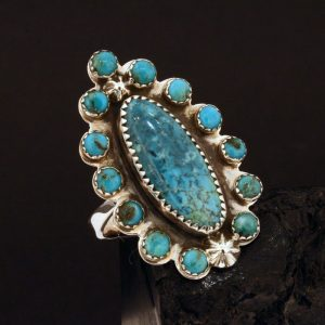 Blue Diamond turquoise ring by Joshua Concha