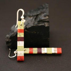 Striped earrings by Stephanie Medina