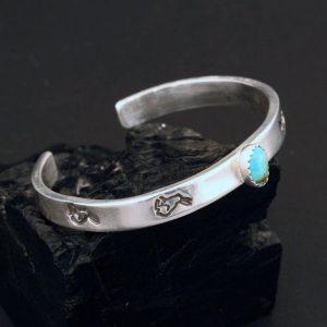 Silver baby bracelet by Janie Chavez