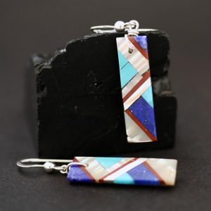 Lightning design earrings by Stephanie Medina
