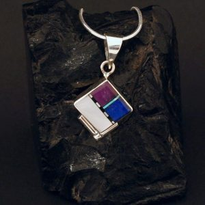 Zuni inlay pendant by Duran Gasper