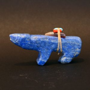 Blue bear fetish by Jimmy Yawakia, Zuni