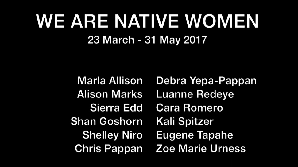 Still from video tour of 'We are Native Women' exhibition 2017.