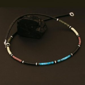 Heishi necklace by Harvey & Janie Chavez