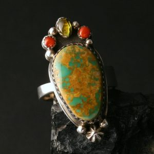 Royston turquoise ring by Joshua Concha