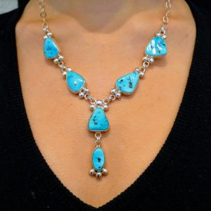 Sleeping Beauty turquoise necklace by Janie Chavez, Kewa