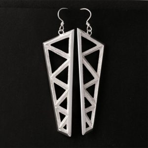 Tufa cast earrings by Tim Herrera