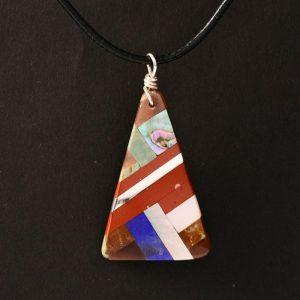 Pueblo pendant by Tanner Medina