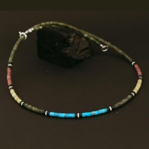 Serpentine heishi necklace by H & J Chavez
