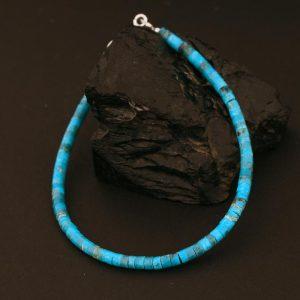 Turquoise heishi bracelet by Harvey & Janie Chavez