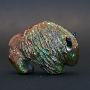 Turquoise buffalo fetish by Jimmy Yawakia