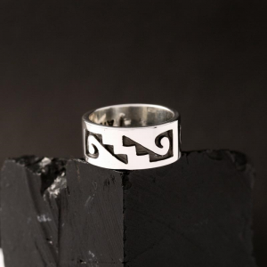 Hopi Pinky Ring by Anthony Honahnie
