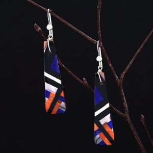 Lightning Pueblo earrings by Stephanie and Tanner Medina