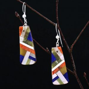 Pueblo lightning earrings by Stephanie and Tanner Medina