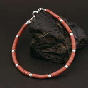 Pipestone bracelet by Harvey & Janie Chavez