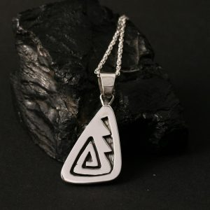 Hopi overlay pendant by Anthony Honahnie