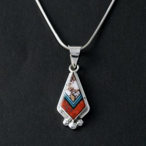 Zuni inlay pendant by Duran Gasper