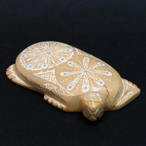 Engraved turtle by Adrian Cachini, Zuni