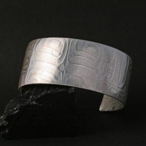 Haida formline silver cuff by Gwaai Edenshaw