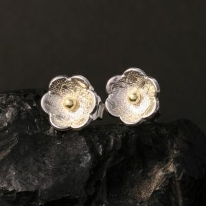 Flower earrings by Chris Pruitt