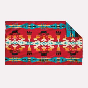 Tucson saddle blanket, red. Pendleton Woolen Mills.