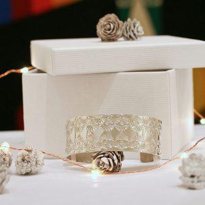 Chris Pruitt Bracelet, stamped sterling silver