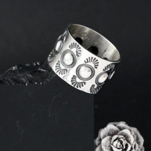 Repoussé Silver Ring by Jennifer Medina