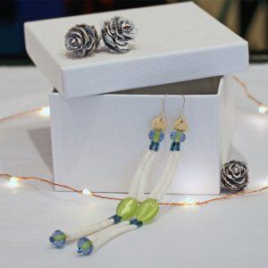 Dentalium earrings by Esther Belin