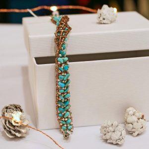 Turquoise Beadwork Bracelet by Jennilee John