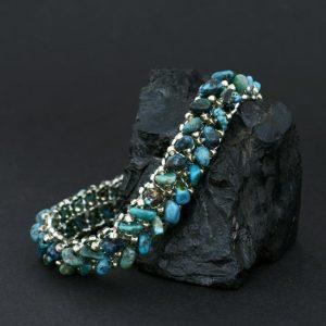 turquoise beadwork bracelet