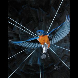 Fly Free, acrylic on canvas board by Marla Allison
