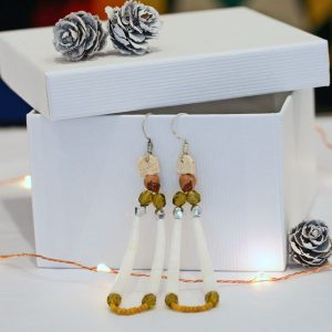 Dentalium earrings by Esther Belin