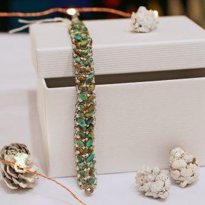 Beadwork Turquoise Bracelet by Jennilee John