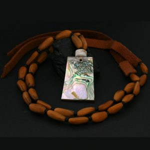 Chumash necklace by Leah Mata