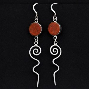 Cuprite Earrings by Duran Gasper, Zuni