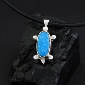 Turquoise Turtle pendant by Janie Chavez