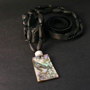 abalone pendant by Leah Mata