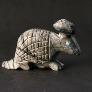 Armadillo hand carved by Dane Malani, Zuni
