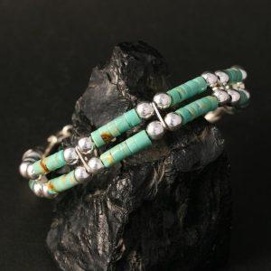 Green turquoise bracelet by Jonathan Garcia