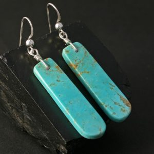 Kingman Turquoise Earrings by Jennifer Medina