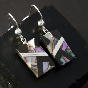 Abalone Mosaic Earrings by Stephanie Medina