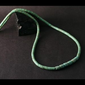 Green Turquoise Necklace by Clarita Chavez