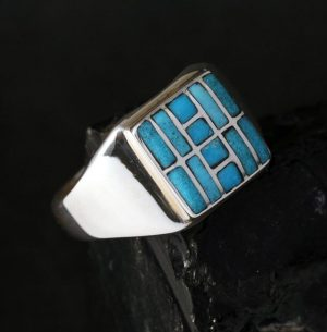 Turquoise Signet Ring by Sheldon & Nancy Westika