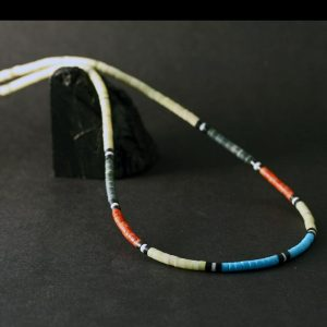 Heishi Beads Necklace by Harvey & Jane Chavez, Kewa.