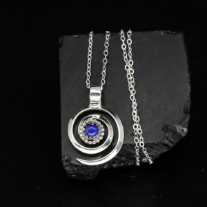 Spiral Pendant with Lapis Lazuli by Lorraine Martinez