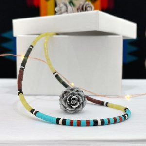 Heishi Necklace by Harvey & Janie Chavez, Kewa Pueblo tribe.